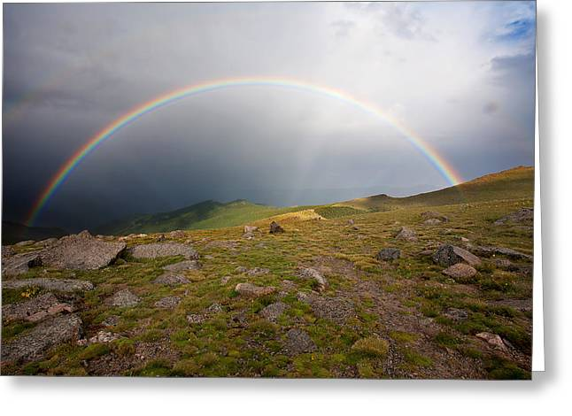 Double Rainbow Greeting Cards - The Promise Greeting Card by Jim Garrison