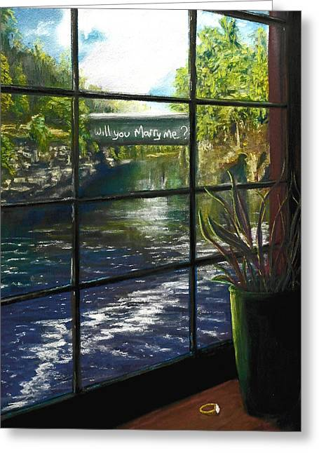 River View Pastels Greeting Cards - The Proposal Greeting Card by Bob Northway