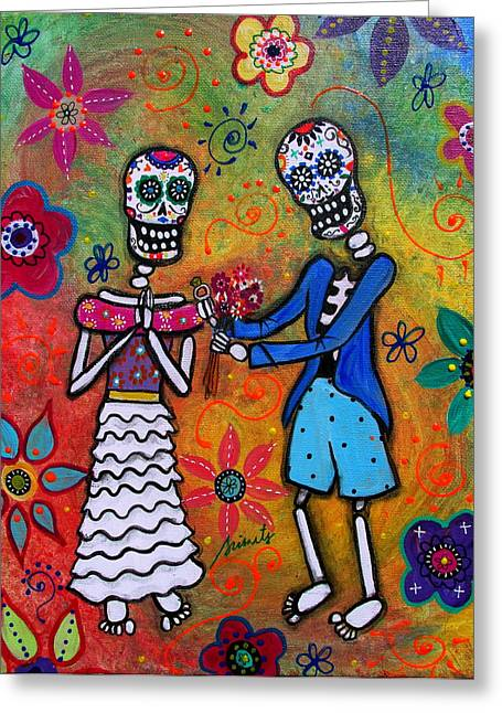 Will You Marry Me Greeting Cards - The Proposal Day Of The Dead Greeting Card by Pristine Cartera Turkus