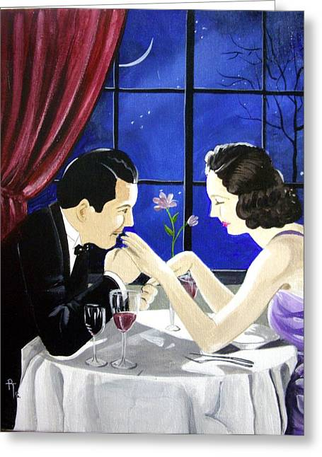 The Proposal Greeting Card by Rosemarie Temple-Smith