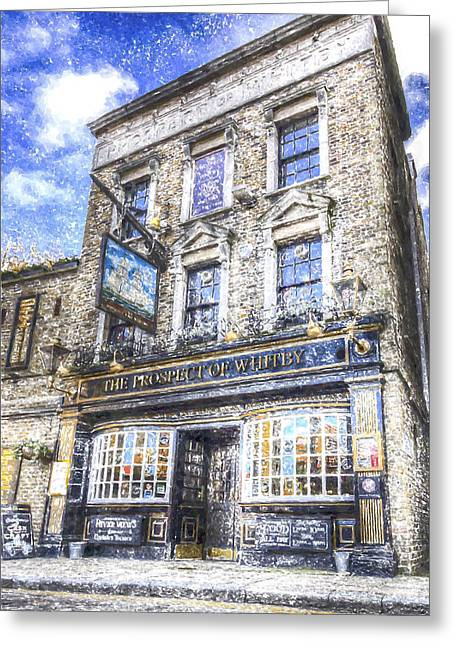 Prospects Greeting Cards - The Prospect Of Whitby Pub London Art Greeting Card by David Pyatt