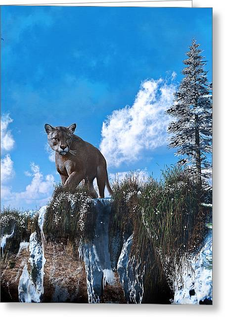 Illustations Greeting Cards - The Prowler Greeting Card by Ken Morris