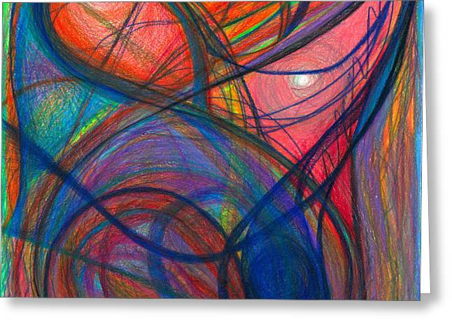 The Pulse of the Heart Lies Strong Greeting Card by Daina White