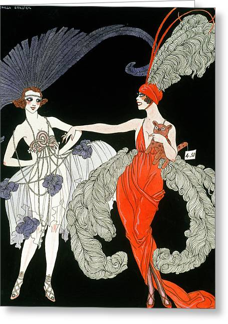 Showgirls Greeting Cards - The Purchase  Greeting Card by Georges Barbier