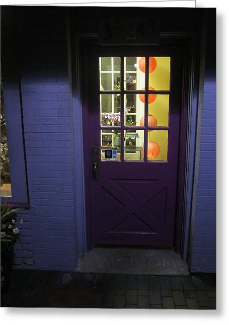 Guy Ricketts Photography Greeting Cards - The Purple Door Greeting Card by Guy Ricketts