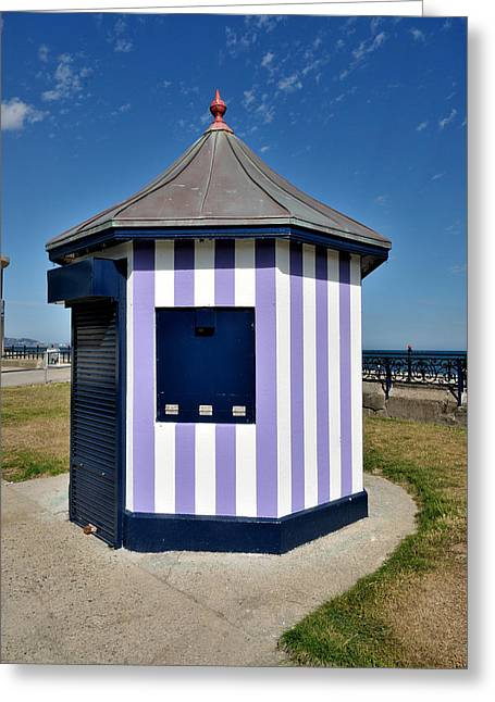 Architectur Greeting Cards - The Purple Kiosk in Bray ireland Greeting Card by Frazer Ashford