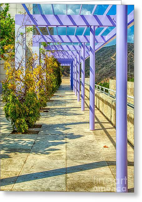Trellis Greeting Cards - The Purple Trellis Greeting Card by Mimi Ditchie