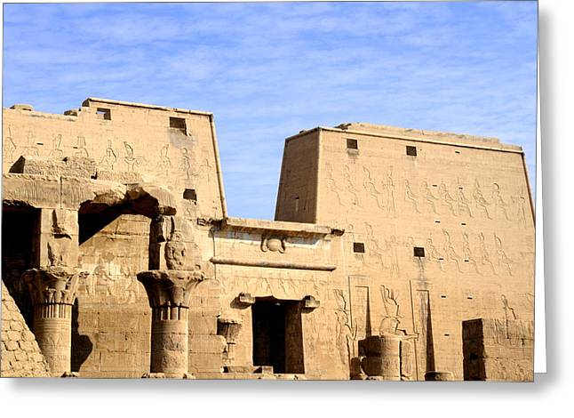The Pylons of Edfu Temple Greeting Card by Brenda Kean