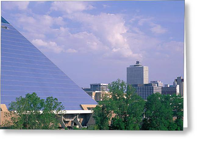 Tennessee Landmark Greeting Cards - The Pyramid Memphis Tn Greeting Card by Panoramic Images