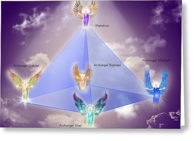 Pyramids Greeting Cards - The Pyramid Of the Archangels Greeting Card by Endre Balogh