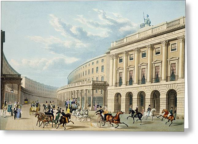 West End Greeting Cards - The Quadrant, Regent Street Greeting Card by Thomas Hosmer Shepherd
