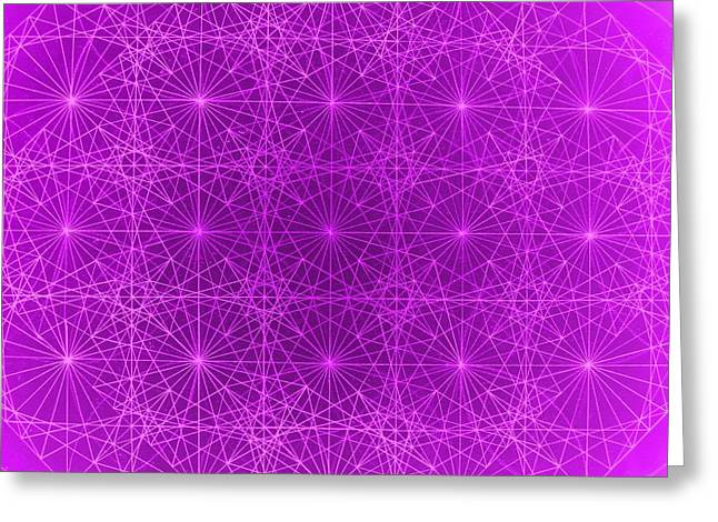 Fractal Greeting Cards Greeting Cards - The Quantum Realm II Greeting Card by Jason Padgett