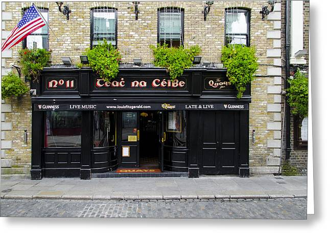 Live Music Greeting Cards - The Quays Pub - Teac na Ceibe- Dublin Ireland Greeting Card by Bill Cannon