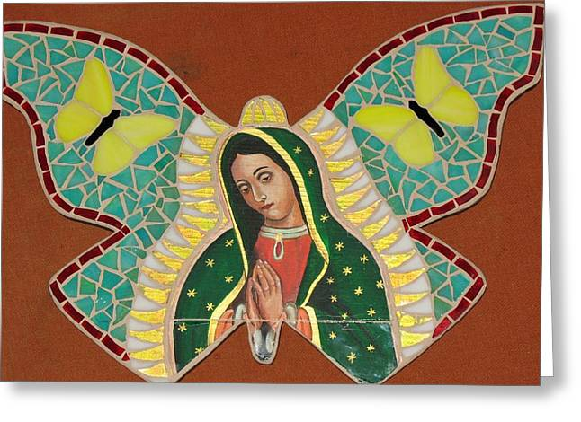 Bass Glass Art Greeting Cards - The Queen Butterfly Greeting Card by Rosa Cardenas