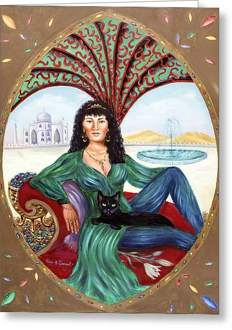Archetype Paintings Greeting Cards - The Queen of Sheba Greeting Card by Karin  Leonard