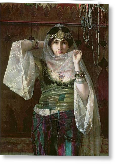 Harem Paintings Greeting Cards - The Queen of the Harem Greeting Card by Max Ferdinand Bredt