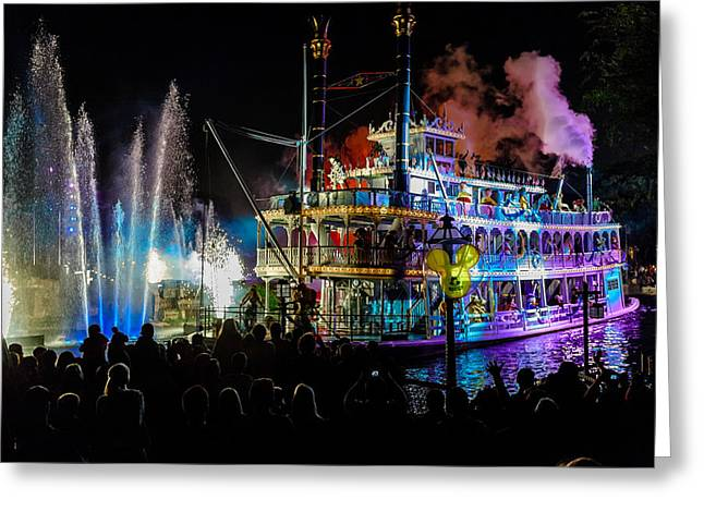 The Mark Twain Disneyland Steamboat  Greeting Card by Scott Campbell