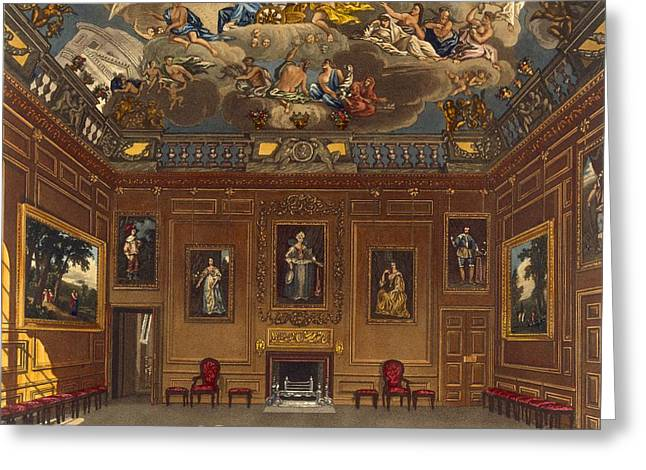 The Queens Audience Chamber, Windsor Greeting Card by Charles Wild