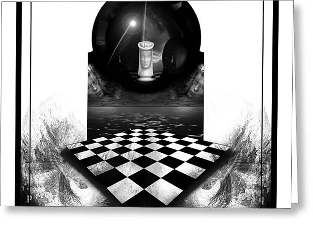 Chess Piece Greeting Cards - The Queens Domain Greeting Card by Robert Schwarztrauber