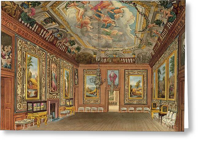 The Queens Drawing Room, Windsor Greeting Card by Charles Wild