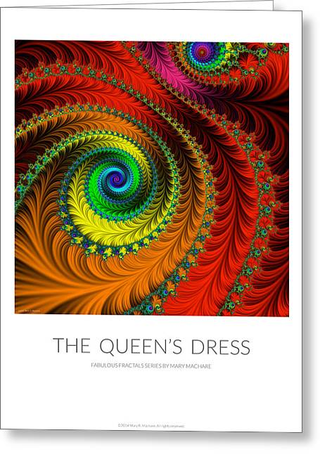 Embroidered Dress Greeting Cards - The Queens Dress - Poster Greeting Card by Mary Machare