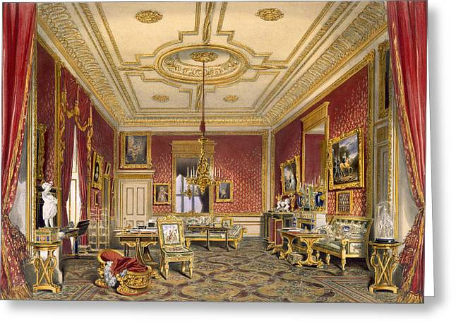 Candelabra Greeting Cards - The Queens Private Sitting Room Greeting Card by James Baker Pyne