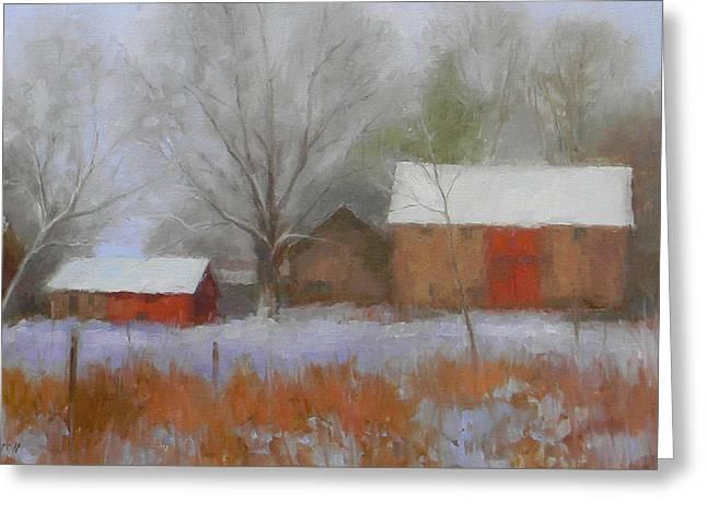 The Quiet Farm Bucks County Greeting Card by Kit Dalton