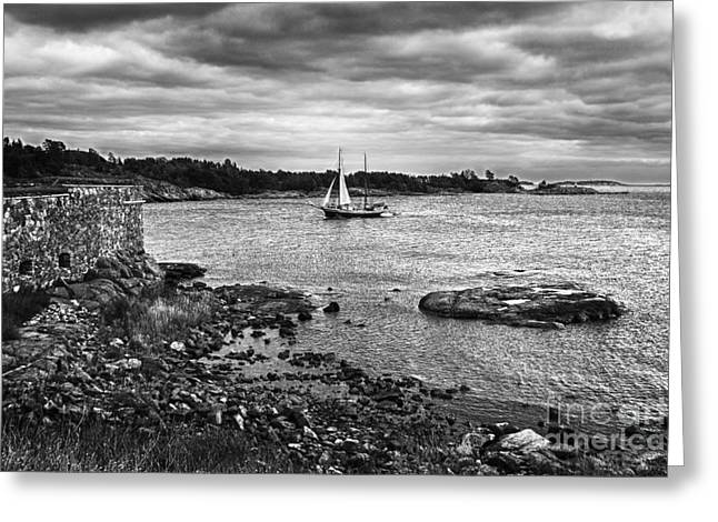 Sailing Boat Greeting Cards - The Quiet Harbor Greeting Card by Giovanni Chianese