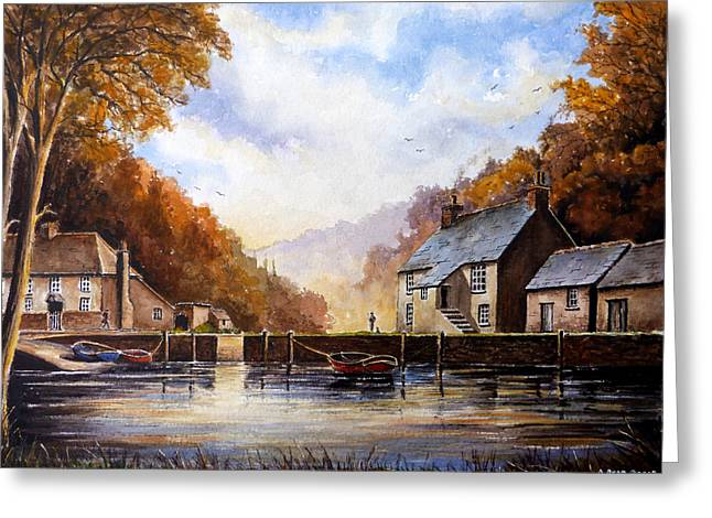 Watery Greeting Cards - The Quiet Life Pont Cornwall Greeting Card by Andrew Read