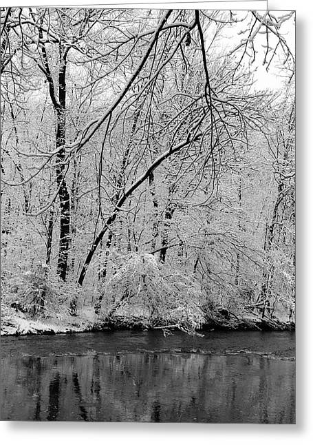 Babbling Greeting Cards - The Quiet of Winter Greeting Card by Stephen Hobbs