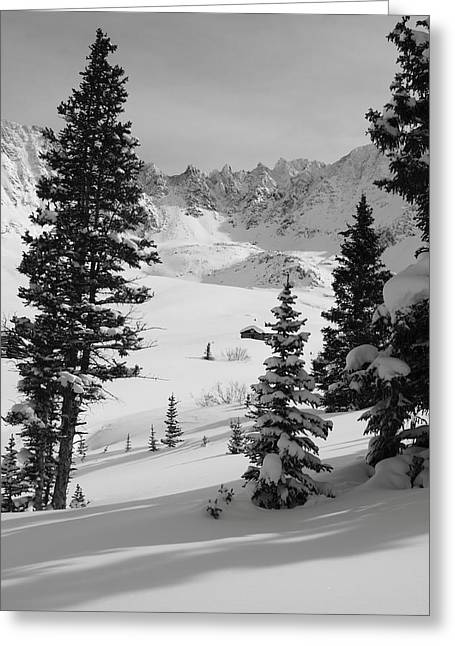 Powder Greeting Cards - The Quiet Season Greeting Card by Eric Glaser