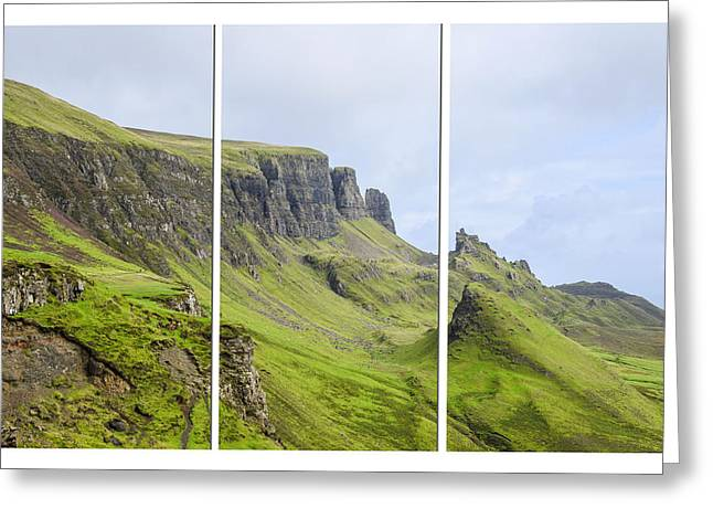 The Quiraing Triptych Greeting Card by Chris Thaxter