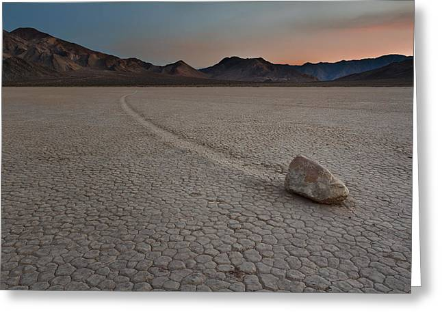 The Racetrack At Death Valley National Park Greeting Card by Eduard Moldoveanu