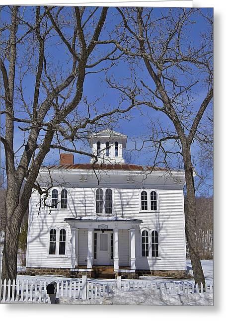 Seasonal Prints Rural Prints Greeting Cards - The Radley House Greeting Card by Carol Toepke