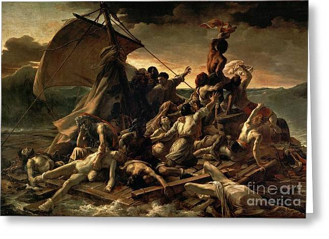 Digital Media Drawings Greeting Cards - The Raft of the Medusa Greeting Card by Celestial Images