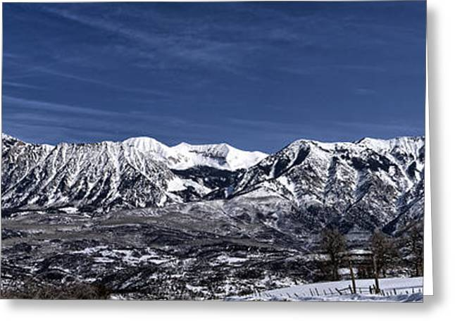 Snow Capped Greeting Cards - The Ragged Mountains Greeting Card by Eric Rundle