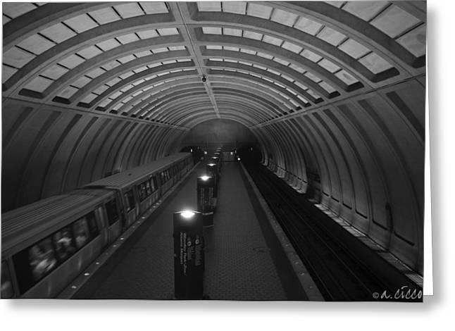Underground Railroad Digital Art Greeting Cards - The Rail Underground Greeting Card by Adrian Ciccone