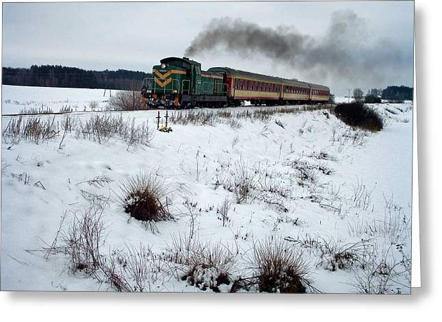 Railway Transportation Greeting Cards - The Rails through Poland Greeting Card by Mountain Dreams