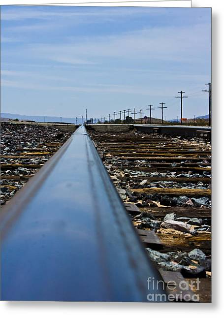 Yermo Greeting Cards - The Railway Greeting Card by Scott Laffin