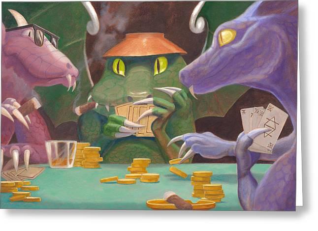 Leonard Filgate Greeting Cards - The Raise Greeting Card by Leonard Filgate