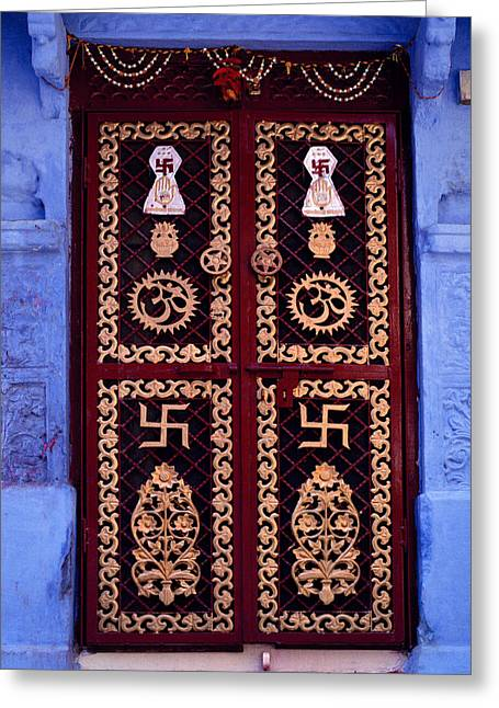 Bold Style Greeting Cards - The Rajasthan Door Greeting Card by Shaun Higson