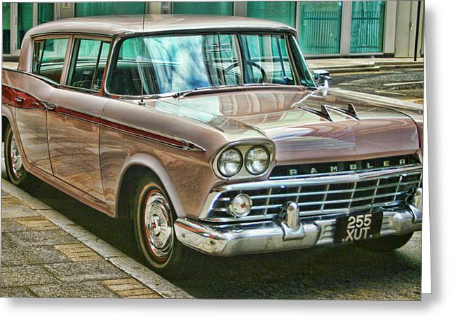 American Motors Corporation Greeting Cards - The Rambler Greeting Card by Heather Applegate