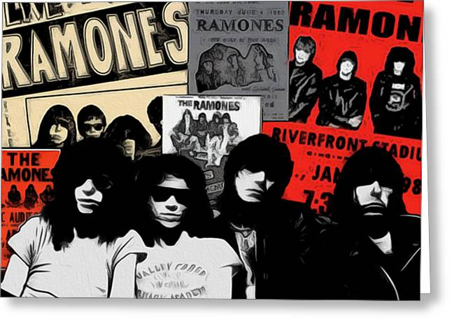 Ramones Greeting Cards - The Ramones Greeting Card by GR Cotler