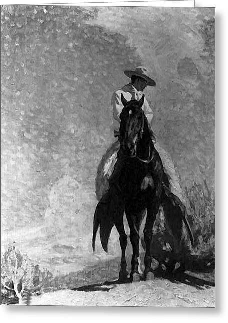 Western Art Greeting Cards - The Ranger Greeting Card by W Herbert Dunton