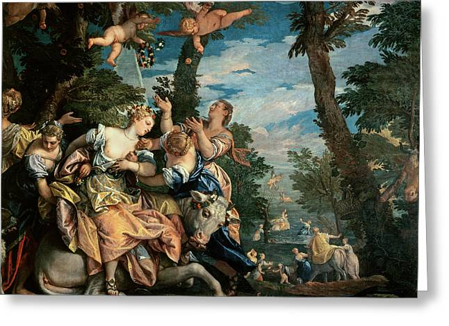 Paolo Caliari Veronese Greeting Cards - The Rape of Europa Greeting Card by Veronese