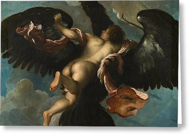 The Rape Greeting Cards - The Rape of Ganymede Greeting Card by Damiano Mazza