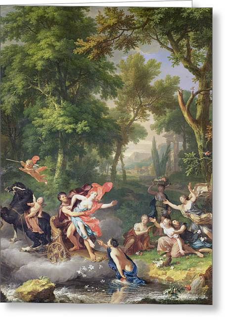 Mythical Landscape Greeting Cards - The Rape Of Proserpine Greeting Card by Jan van Huysum