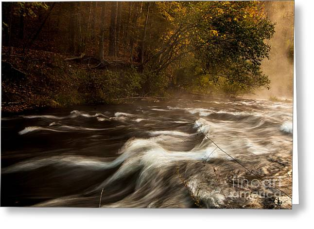 Mystical Landscape Greeting Cards - The Rapids in Fork River Greeting Card by Iris Greenwell