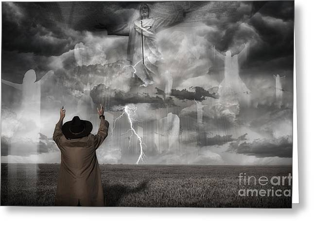 Christianity Greeting Cards - The Rapture II Greeting Card by Keith Kapple