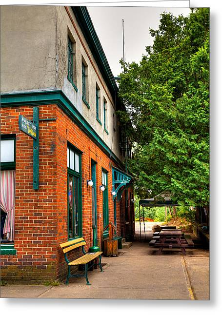 Tap Greeting Cards - The Raquette Hotel and Tap Room Greeting Card by David Patterson